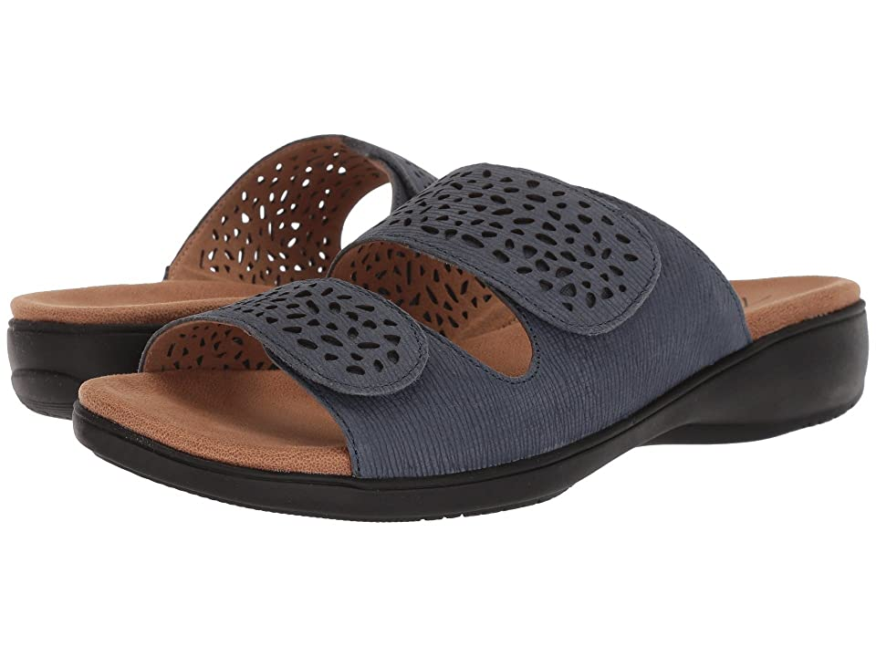 Trotters Tokie (Navy Embossed Soft Leather) Women