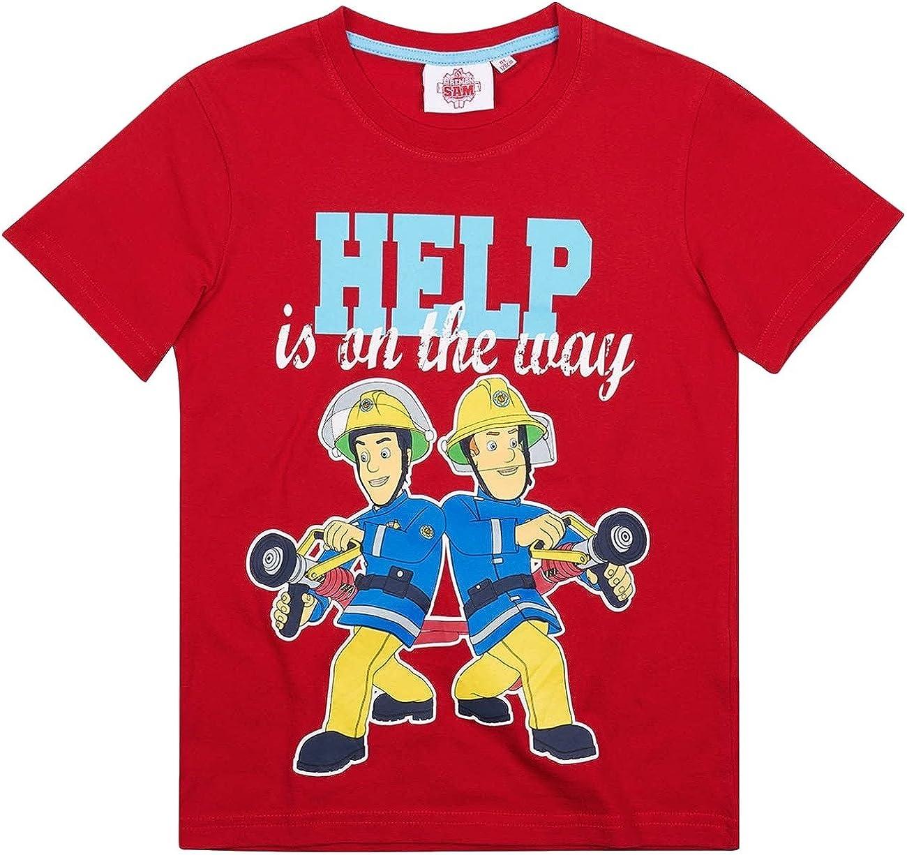 Feuerwehrmann Sam T-Shirt Top Oberteil Kinder Disney Sommer 98-128