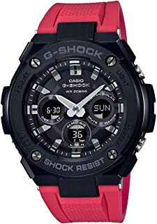 Red 55.9mm Stainless Steel G-Shock Men's Watch GSTS300G-1A4