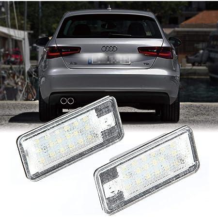 Ceepko 2 X Led Kennzeichenbeleuchtung Für Audi A3 8p A4 B6 B7 A6 A8 Q7 Kennzeichenleuchte Nummernschild Licht Auto