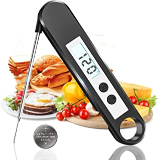 K KOMOI Digital Meat Cooking Thermometer Instant Read Thermometer for Grill Kitchen Food Thermometer with Magnet, Backlight for Outdoor BBQ, Coffee, Milk, Oil, Candy Thermometer