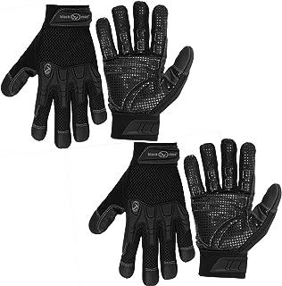 Black Rhino Work Gloves 2 Pairs Pro-Litez Heavy Duty Lightweight Work Gloves Men Work Gloves Women Work Gloves With Grip Work Gloves All Purpose