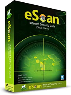 eScan Internet Security Suite with Cloud Security Anti Malware Software USB Security Two Way Firewall (Improved) |3 Devices 3 Years | complete Antivirus software 2019 [PC/Laptops]