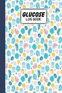 Glucose Log Book: Blood Sugar Log Book shells Cover, Weekly Blood Sugar Diary, Daily Diabetic Glucose Tracker Journal Book...