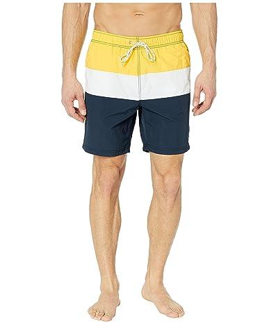 Nautica Tri-Block Swim Trunk (Sunfish Yellow) Men