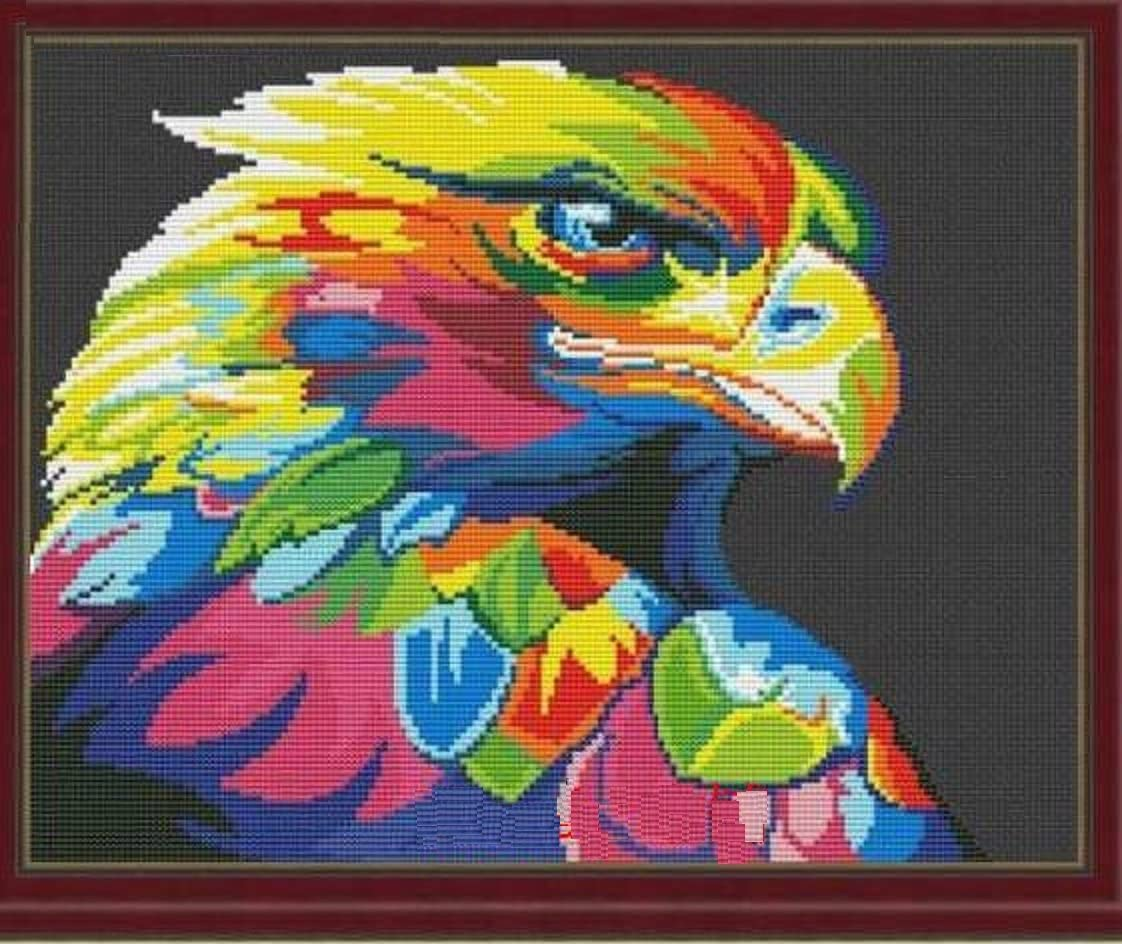 Colorful Award Series Lowest price challenge Eagle in Dark Cross St Counted 35x45cm
