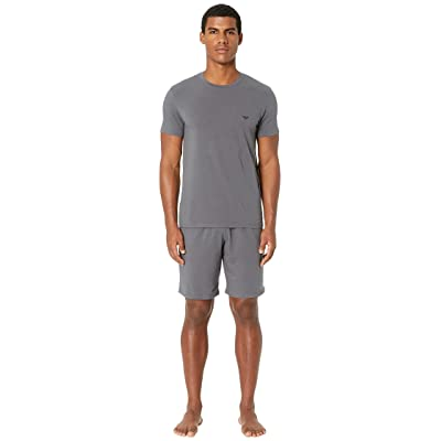 Emporio Armani Endurance Pajama Set (Anthracite) Men
