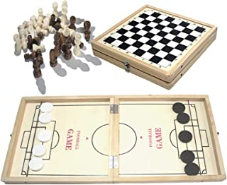 LAFANDE 2 in 1 Chess Slingshot Games Toy Board Game Sling Hockey Game Interactive Toy