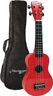 "Martin Smith UK-212-BK 高音尤克里里里琴,带旅行袋,黑色UK-212-RD 21"" Full Size Soprano"