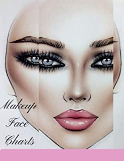 Makeup Face Charts: A Sturdy Blank Paper Practice Face Chart Accessory For Professional Makeup Artists