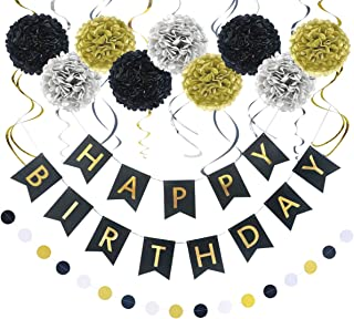 Best black gold and silver birthday decorations Reviews