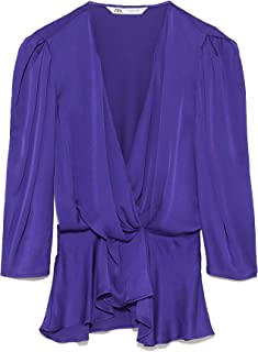 Zara Women Satin wrap Blouse 7563/240