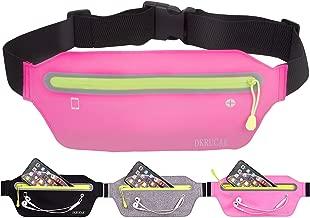 DKRUCAK Slim Running Belt Ultra Light Waist Pouch Fitness Workout Belt Sports Waist Pack Exercise Waist Bag for Women Men Fitness Exercise Marathon Sport Packs