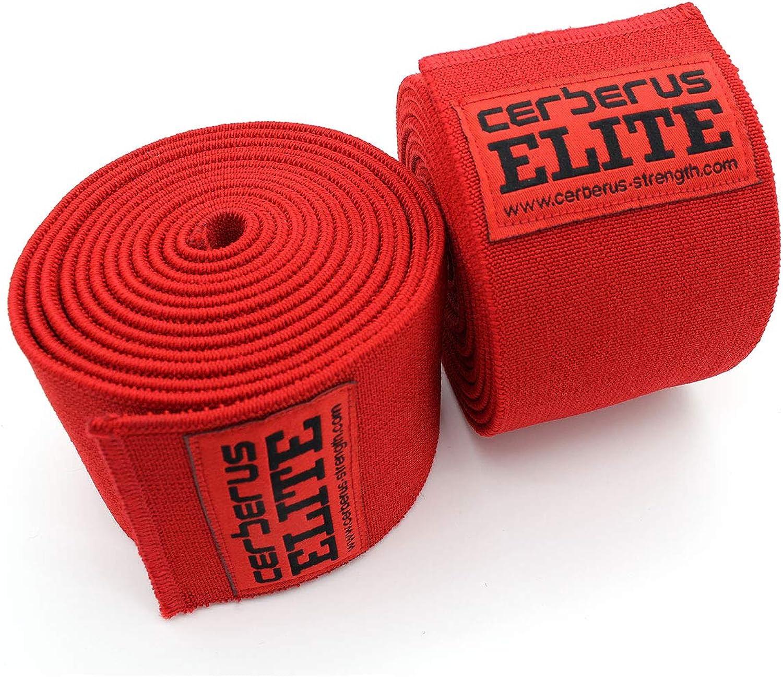 8ee67502fa3 3m) Strength Elite Knee Wraps (Pair) - CERBERUS nnnivx1145-Sporting ...