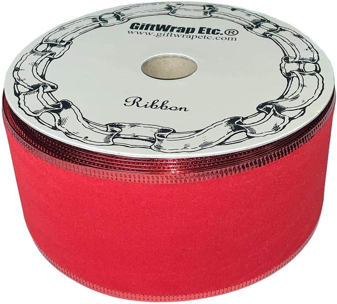 Red Velvet Christmas Ribbon - 2 1/2