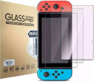 Screen Protector Tempered Glass for Nintendo Switch [3 Pack], Aishtec [9H Hardness] Transparent HD Clear Anti-Scratch Scre...
