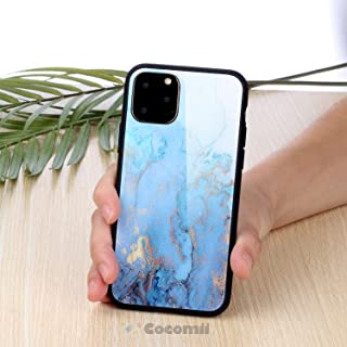 Cocomii Glass Marble Armor iPhone 11 Pro Max Case New [Polished Granite] Ultra HD Vivid Pattern Never Fade Anti-Scratch Shockproof Bumper [Slim] Full Body Cover for Apple iPhone 11 Pro Max (GL.Blue)