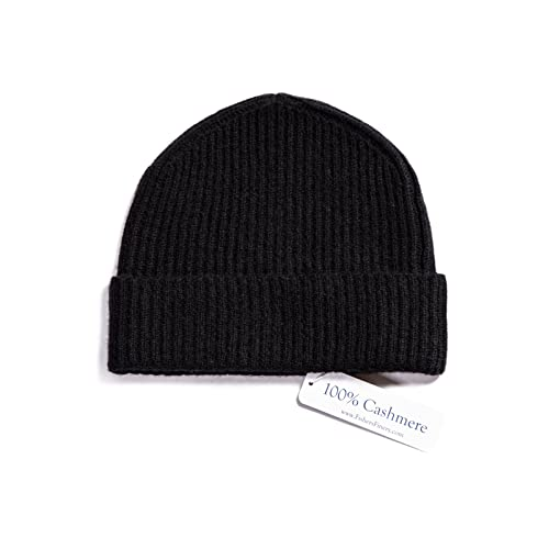 f3123fca39488 Fishers Finery Men s 100% Pure Cashmere Ribbed Cuffed Hat  Ultra Plush