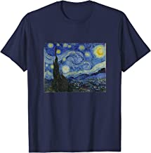 Starry Night Original Oil Painting Vincent Van Gogh T Shirt