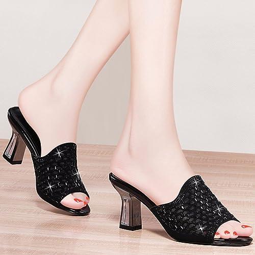 QPSSP Hauszapatos Con Tacones, Tacones, Tacones, Sandalias Y zapatos De mujer.