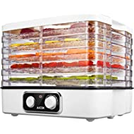 Aicok Food Dehydrator, 5-Tray... Aicok Food Dehydrator, 5-Tray Food Dehydrator Machine with Extensible Capacity for Jerky Meat...
