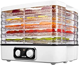 Aicok Food Dehydrator, 5-Tray Food Dehydrator Machine with Extensible Capacity for Jerky Meat Fruit Vegetable and More, Temperature Control BPA Free