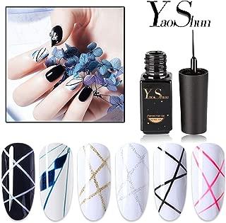 YaoShun Gel Nail Polish - Soak Off Gel Polish 6 Colors Gel Polish Kit, UV LED Painted Nail Gel Set Manicure Nail Art Kit 6ml Each