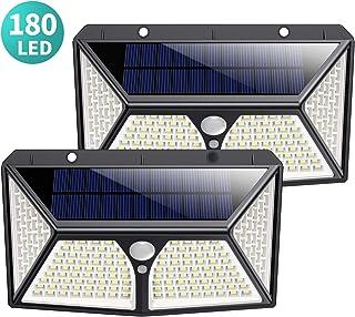 comprar comparacion 180 LED Luz Solar Exterior, Kilponen Versión Mejorada 2500mAh Foco Solar Exterior con Sensor de Movimiento Luces Solares...