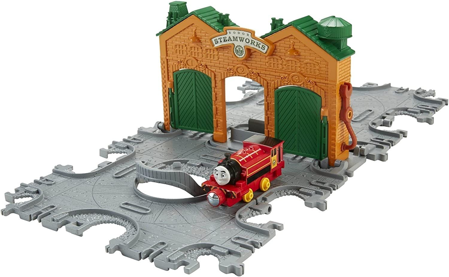 FisherPrice Thomas The Train  TakeNPlay Steamworks Tile Tracks with Victor Engine