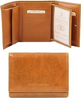 Tuscany Leather Esclusivo portafogli in pelle da donna 4 ante Miele