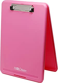 Think2Master Pink Plastic Storage Clipboard. | 25% Heavier & 25% Sturdier| Heavy Duty and Won't Flex or Bend Like Other Brands (Compare The Weight). Storage Compartment Holds 150 Letter Sized Paper.