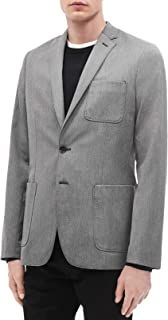Mens Lightweight Slim Fit Two-Button Blazer