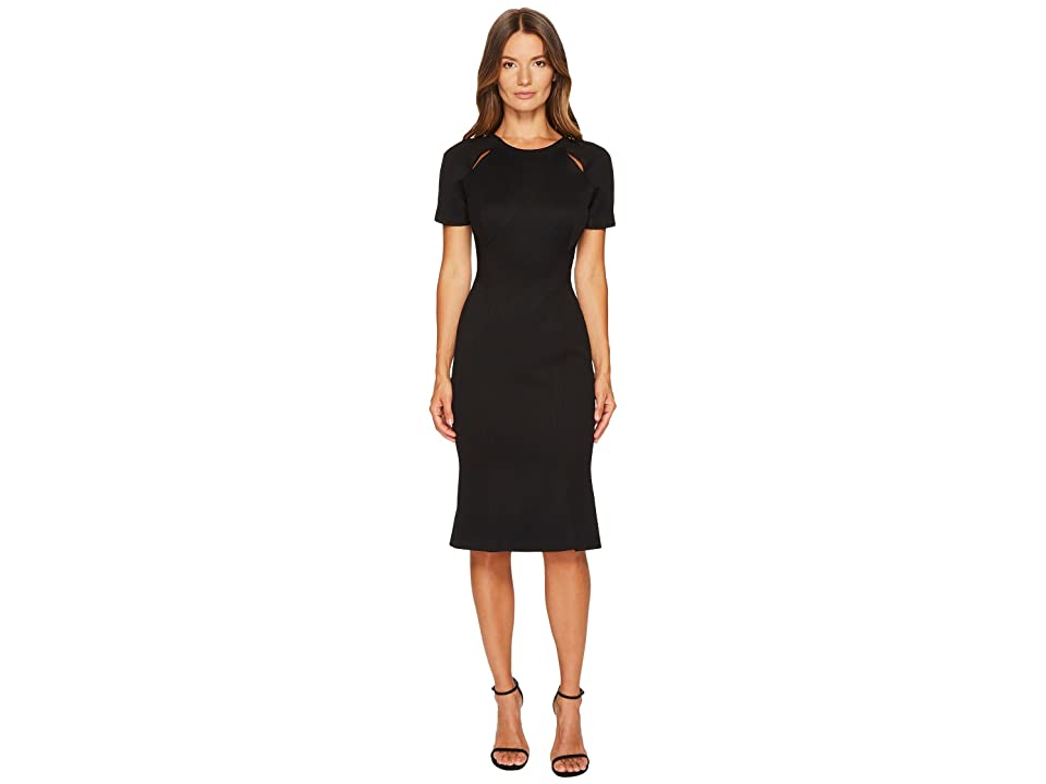 Zac Posen Bondage Jersey Short Sleeve Dress (Black) Women