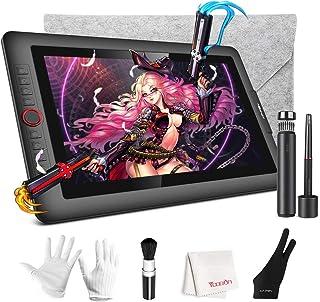 液タブ XP-Pen 傾き検知機能付き 15.6インチ液晶タブ 8個ショートカットキー スタンド付きArtist15.6 Pro HD液晶ペンタブレット 7点付属品セット