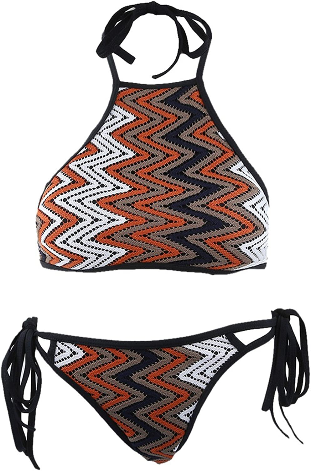 Samtree Womens Classic 2 Pcs Swimsuit,Bathing Suit Beach Bikini Set Swimwear