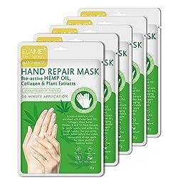 Hand Peel Mask 5 Pack, Moisturizing Gloves