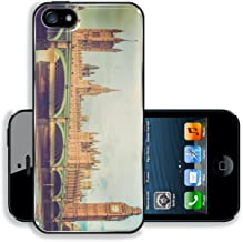 MSD Premium Apple iPhone 5 iPhone 5S Aluminium BackplateSnap Case Vintage looking Westminster Bridge panorama with the Houses of Parliament and Big Ben in London UK Image ID 27007273