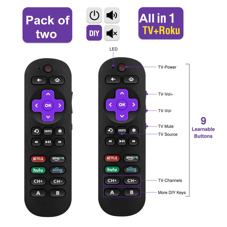 Bedycoon Paquete de 2 mandos a distancia universales todo en 1 IR ...