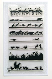 Animal Landscapes borders 01 // Clear stamps pack (4