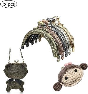 Shuny 5PCS Metal Monedero Beso Cerradura,Metal marco beso cierre cerradura semicircular bolso bolsa marco cierre cerradura Lock DIY Purse Craft Accesorio.