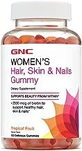 GNC Womens Hair, Skin Nails Gummy, Tropical Fruit, 150 Gummies