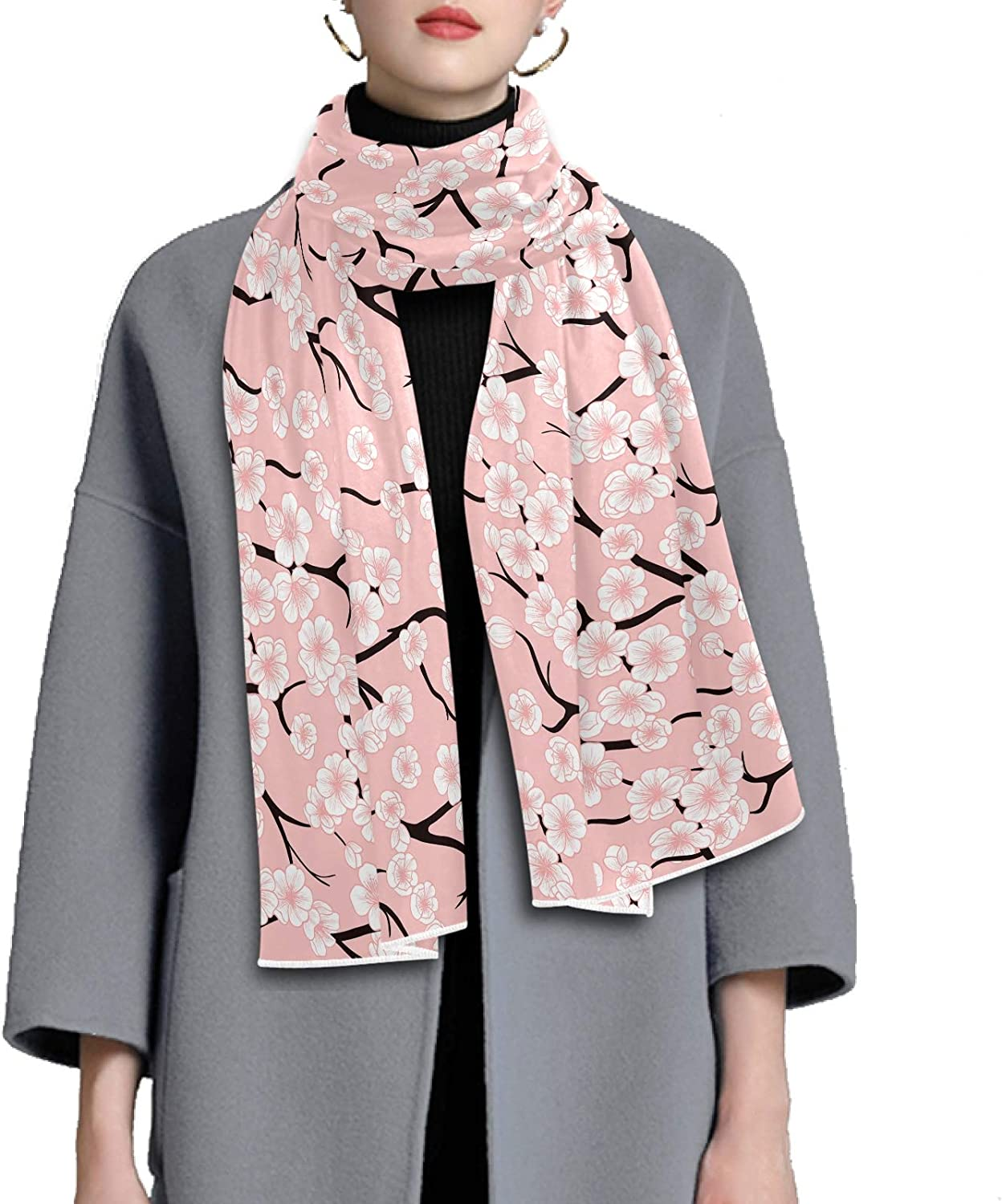 Scarf for Women and Men Cherry Blossoms Shawl Wraps Blanket Scarf Thick Soft Winter Large Scarves Lightweight