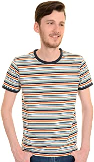 Best men's retro striped t shirt Reviews