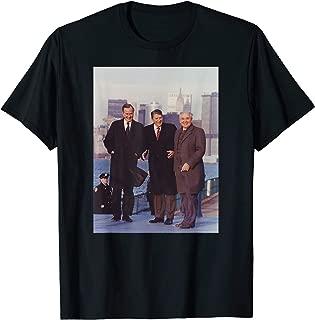 USA Russia President Reagan George H Bush Mikhail Gorbachev T-Shirt