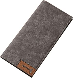 Wallet Male Slim Pu Leather Bifold Business Long Wallet Card Coin Wallet Purse cartera hombre,D