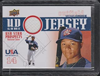 2009 Upper Deck Michael Choice USA Game Used Rookie Jersey Baseball Card #GJU-24