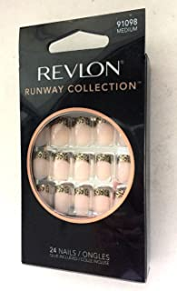 Revlon Nails Runway Collection French Nail with Leopard Tips #91098 Medium