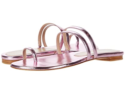 Stuart Weitzman Leonita Slide (India Pink Metallic Nappa) Women