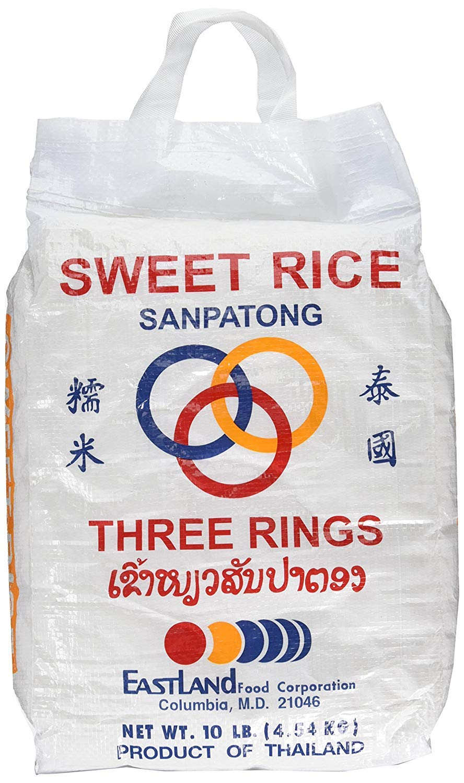 10 Lbs Thai Virginia Beach Mall Sticky Rice - Sweet PACK Charlotte Mall 3 OF
