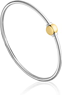 The Traditional Sterling Silver & 14K Yellow Gold Clad Single Ball Threaded Bracelet from Cape Cod…FLEX Style
